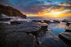 Back to the Ocean (Fluid Light Images) Tags: sandiego ocean oceanbeach sunsetcliffs beach sunset clouds water movement longexposure sonyalpha samyang 14mm