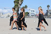 Frankie Sandford, Vanessa White and Mollie King of The Saturdays take surfing lessons on Venice Beach Los Angeles, California
