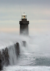 Lighthouse (GManVespa) Tags: lighthouse storm wave guernsey sescape