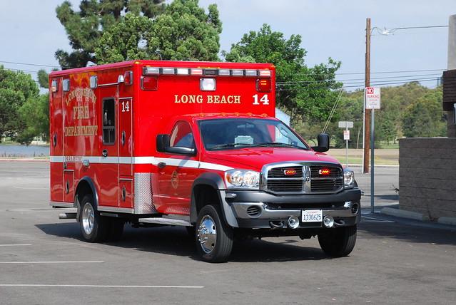 rescue truck pickup ambulance dodge ram paramedic ems emt 3500 lbfd longbeachfiredept longbeachfire longbeachfd