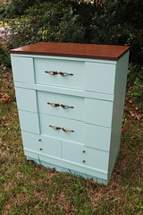 70s chest side (Its Lina) Tags: green vintage diy 60s furniture painted mint makeover 1960s mintgreen refinished chestofdrawers sixdandylions