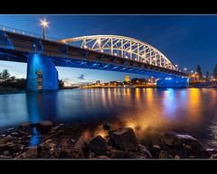 IMG_2808.jpg (Maarten Takens) Tags: bridge blue water netherlands yellow reflections arnhem bluehour brug airborne rhine muur gelderland sigma1224 blauestunde ultrawideangle abridgetoofar johnfrostbridge arnhein blauweuur