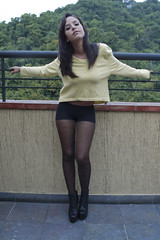 Autumn Leaves I (sergioantonioaguero) Tags: autumn portrait woman sexy girl sergio fashion panties canon see sweater martin andrea venezuela tights caracas 7d jeffrey brunette campbell trough aguero