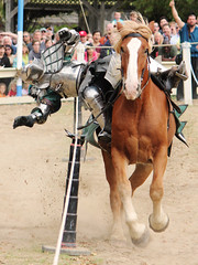 Let the Unarsing Begin! (blacksheep_vmf214) Tags: ohio horse fall festival canon falling armor knight ren fest joust renaissance jousting t3i unassing