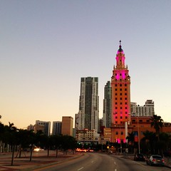 Downtown Miami (miamism) Tags: pink miami views miamiviews downtownmiami freedomtower miamiskyline miamirealestate miamisms thefreedomtower miamisfreedomtower
