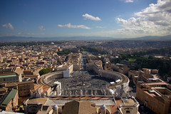 View from the Cupola, Basillica San Pieter, Vatican (tomoliver87) Tags: vatican rome cupola basillicasanpieter