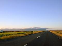 Islanda 2012-01 (Felson.) Tags: road trip travel blue sky panorama holiday field grass clouds landscape iceland strada nuvole blu cielo prato viaggio vacanza 2012 campi islanda