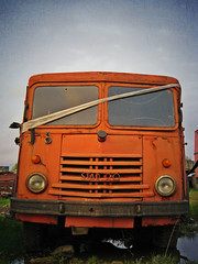 After service (merowing314) Tags: old abandoned truck vintage star rust polish firetruck 20