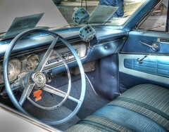 Bel Air Blue (podolux) Tags: chevrolet belair car md classiccar maryland brunswick chevy dashboard steeringwheel 2012 fuzzydice postprocessing photomatix chevroletbelair tonemapped chevybelair tonemap october2012 photomatixformac