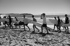 Learners (Julie Byrnes) Tags: blackandwhite beach photography blackwhite interesting noiretblanc candid streetphotography australia explore deewhy streetimages beachproject juliebyrnes