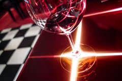 Tron wine (imageneer) Tags: california glass restaurant la losangeles wine sony bazaar tron joseandres rx100