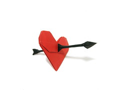 Heart & Arrow (Al3bbasi.) Tags: love paper origami heart arrow al3bbasi
