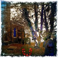 The Souls (littlefurrycats) Tags: old house tree art halloween church nature grave cat dark death skull gothic haunted spooky doorway horror fright pagan beneaththerainbowbridge