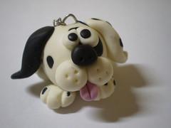 Caveiro Dálmata - Zoião (2) (Kelly arte e costura) Tags: artesanato biscuit trabalhosmanuais lembrancinhas chaveiros porcelanafria