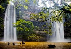 "Boti Falls, Eastern Region, Ghana (paulinuk99999 (lback to photography at last!)) Tags: africa people lake wet water sunshine rain swimming waterfall falls ghana thunderstorm eastern region boti paulinuk99999 ""flickraward"""