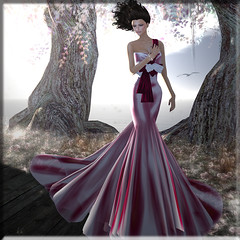 yours in mine ... (Renee_ Parkes) Tags: azul emotion renee secondlife gown dreamworld ccd belleza glitterati jamman pinkoctober lelutka reneeparkes