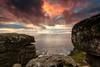 Long Ships Sunset [Explored] (Martin Mattocks (mjm383)) Tags: ocean longexposure sunset seascape clouds rocks cornwall horizon landsend coastline lichen rugged longshipslighthouse canoneos5dmarkii cornwalllandscapes mjm383 martinmattocksphotography