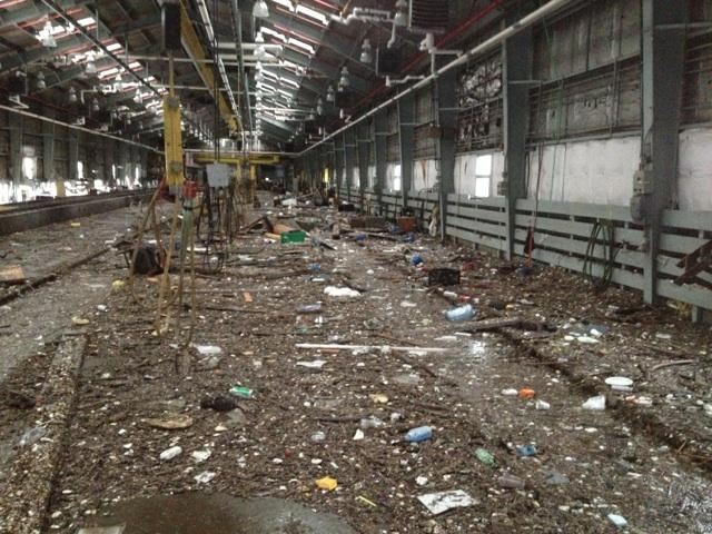 Staten Island Railway's Clifton Shop After Sandy