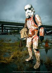 Portland Zombie Walk (LukeOlsen) Tags: rain oregon portland starwars blood zombie ewok rainy stormtrooper undead zombiewalk portlandzombiewalk strobist 580exii lukeolsen pdxstrobist
