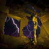 Happy Halloween! ([Nocturne]) Tags: longexposure nightphotography sky lightpainting abandoned halloween yellow canon square skeleton flickr bricks led abandonedhouse hanging lightning nocturne happyhalloween noose flashgun noctography wwwnoctographycouk