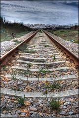 tracks ... (John FotoHouse) Tags: colour portugal canon eos vanishingpoint europe flickr tracks railway hdr johndolan 2012 dolan photomatix leedsflickrgroup johnfotohouse canon7d copyrightjdolan