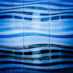 waterfront (helen sotiriadis) Tags: blue windows abstract glass architecture facade canon waves athens greece curtainwall canonef50mmf14usm canoneos40d
