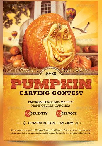 Pumpkin CarviPumpkin Carving Contest Charity Flyer Templateng