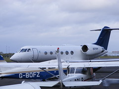 Gulfstream IVSP: 1371 N371FP Newcastle Airport (emdjt42) Tags: newcastleairport 1371 gulfstream4 n371fp