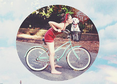 Retro Summer (Danielle Pearce) Tags: summer dog girl bike canon puppy outside mark ii 5d