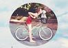Retro Summer (Danielle Pearce) Tags: summer dog girl bike canon puppy outside mark ii 5d