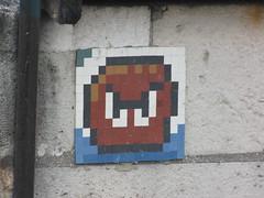 Space Invader like  Saint Michel (tofz4u) Tags: streetart paris tile mosaic copycat spaceinvader spaceinvaders 75006 mosaque artderue rv11