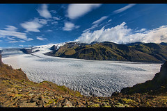 Skaftafellsjkull Glacier in Vatnajkull National Park, Skaftafell, Iceland (jitenshaman) Tags: travel snow nature beauty landscape iceland nationalpark scenery europe glacier arctic destination vatnajokull skaftafell vatnajkull skaftafellsjkull worldlocations
