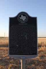 Bridgetown, Clara, Texas Historical Marker (TexasExplorer98) Tags: clara sunset rural texas country historic texashistoricalmarker burkburnett wichitacounty