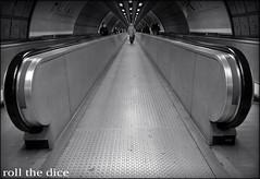 `782 (roll the dice) Tags: uk people urban blackandwhite blur london art classic underground candid jubilee tube strangers streetphotography passengers waterloo walkway rush unknown escalators unaware tfl londonist speedwalk londontube150