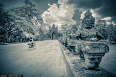 Girls-Riding-Bike-at-Angkor-Wat-Siem-Reap-Cambodia
