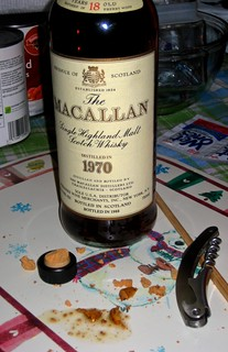 Oh No!  My 1970 Macallan Scotch Whisky has corked!