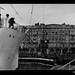 Loading of household goods on board CASTEL VERDE at Trieste in Italy, before departing for Australia with migrants, 1953-1954