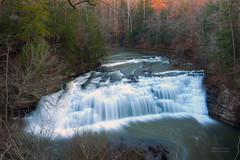 Falling Water in Middle Tennessee (RobertCross1 (off and on)) Tags: longexposure forest woodland river landscape waterfall interestingness tennessee omd burgessfalls middletennessee easternhemlock em5 xploration highlandrim 1250mmf3563mzuiko