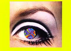 Subtly Psychedelic (Angie Naron) Tags: art collage 1960s psychedelic twiggy thesixties collagebyangienaron thekollagekit wwwkollagekitblogspotcom