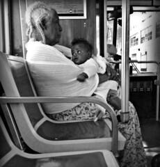 Grandmadonna & Child (goofcitygoof) Tags: sanfrancisco street baby grandmother muni mayorjones alexandrajones goofcitygoof httpsfbulldogcomalexandra goofcitygraphix httpgoofcitycom httpmayorjonestumblrcom picmonkey