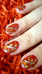 chinese new year nail art 2 (musicalhouses) Tags: red nail nails nailpolish nailart sallyhansen modelsown