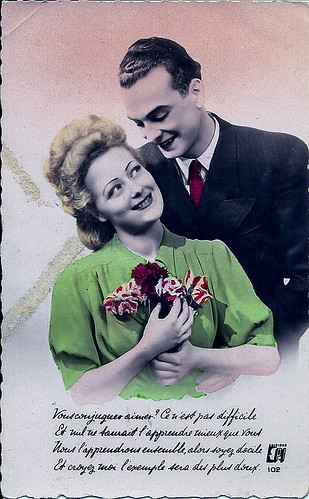 The 1940s-1940 Valentine postcard