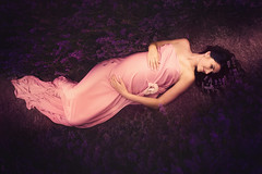 (Eva White Photography) Tags: pregnancy maternity woman pregnant lavender field bump summer peace rest waiting