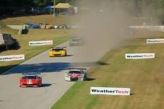 Dust Up (Acronym Railroad) Tags: audi r8 6 stevenson motorsports gtd imsa weathertech road america elkhart lake wisconsin davis liddell