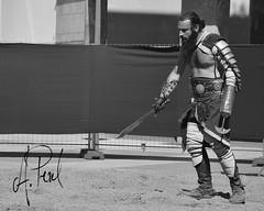 Gladiador 01 (A.Peral) Tags: bw blanco festival circo negro romano arena gladiator dies gipuzkoa irun biga gladius bidasoa oiasso oiassonis gladirador