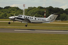 G-WNCH (Rob390029) Tags: synergy aviation beech king air b200 200 gwnch flying flight airborne departure departing manchester airport man egcc prop props propeller propellers aircraft transport transportation transit plane civil civilian travel traveling