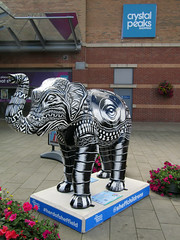 #48 The Beat Goes On by Tom J Newell, Herd of Sheffield 2016 (Dave_Johnson) Tags: thebeatgoeson tomjnewell tomnewell crystalpeaks shoppingcentre herdofsheffield herd elephant elephants art streetart sculpture sheffchildrens sheffieldchildrenshospitalcharity sheffieldchildrenshospital childrenshospitalcharity childrenshospital sheffield southyorkshire