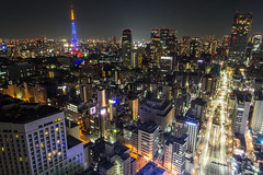 Tokyo Tower Skyline (spgoad) Tags: tokyo tower tokyotower night city skyline cityscape