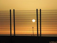 Sunset (Shahrazad26) Tags: sunset zonsondergang coucherdusoleil porttangermed marokko maroc morocco fence hek barrire