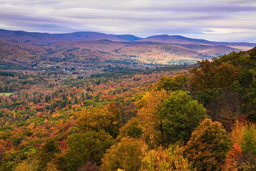 From Mt. Greylock road, view to New Ashford and Williamstown, MA, Fall, 2014